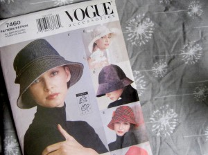 Vintage Vogue pattern and fabric
