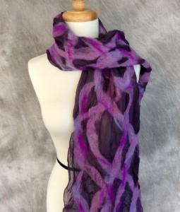 Shades of purple scarf